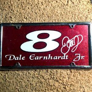 NASCAR Dale Earnhardt Junior autographed car tag